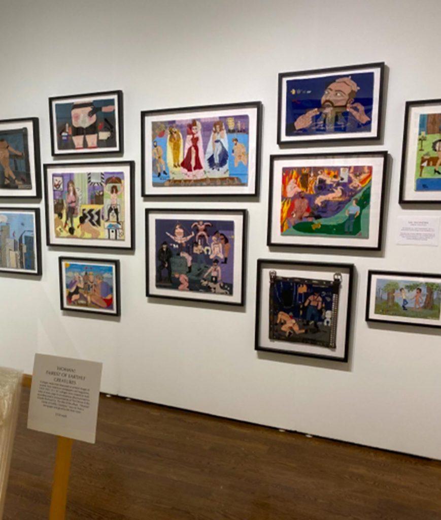 Photo of outsider art fair exhibit
