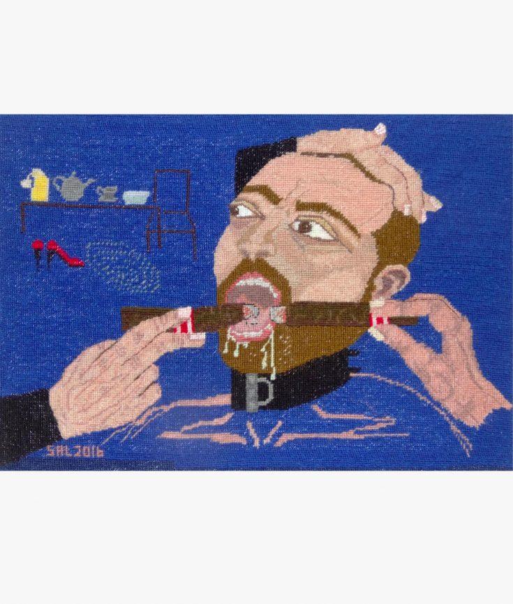 Photo of Human Ash Tray artwork