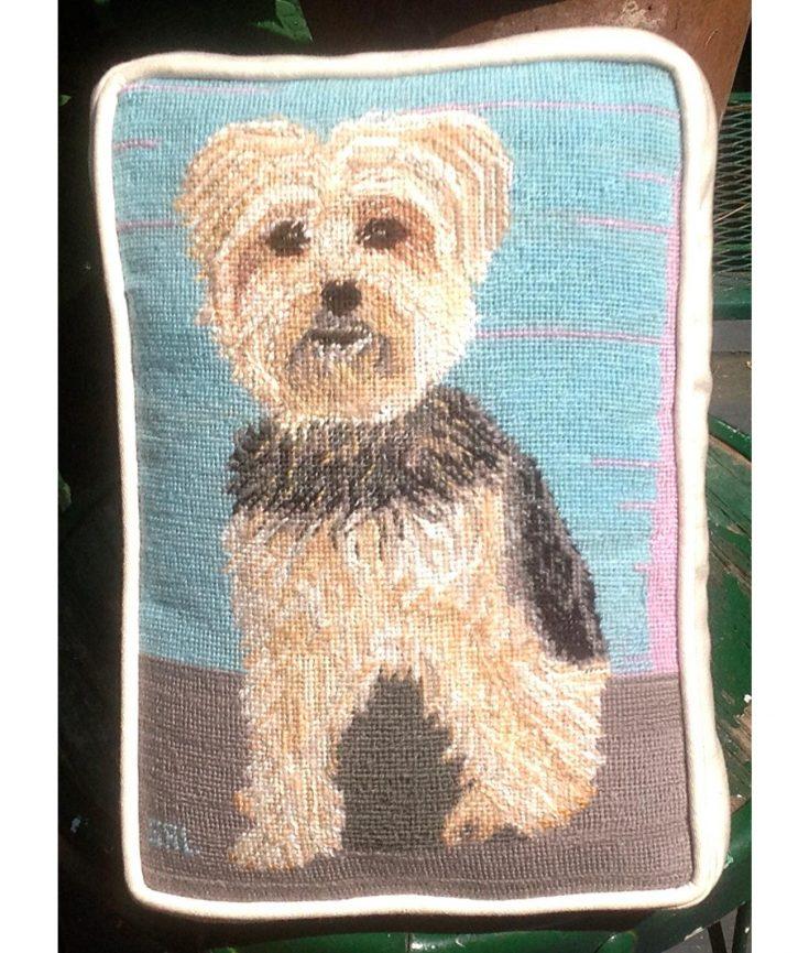 Photo of Dog artwork on pillow