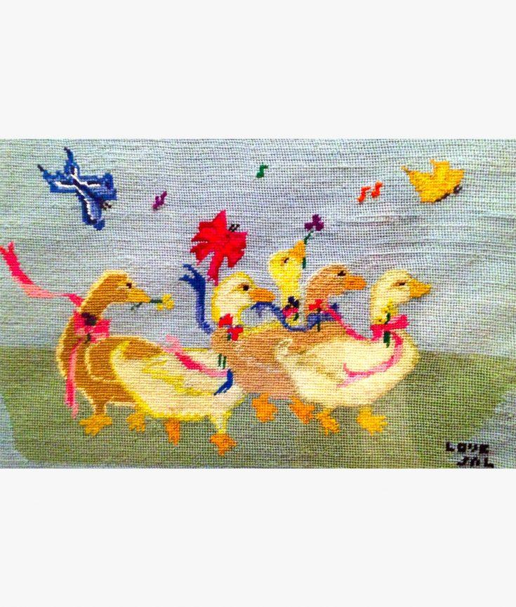 Photo of Ducks thread art