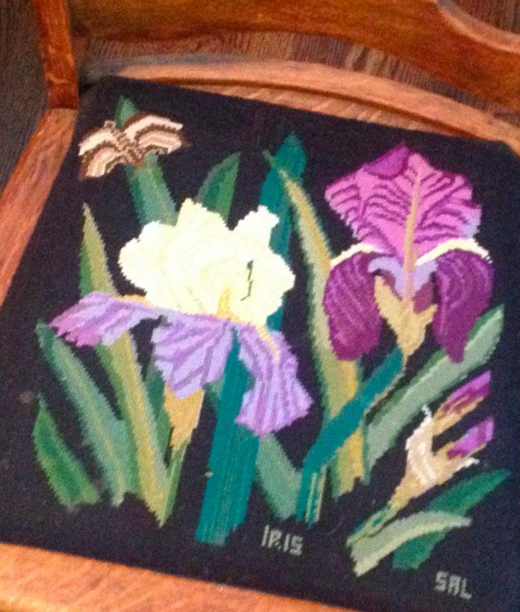 Photo of Irises on Chair