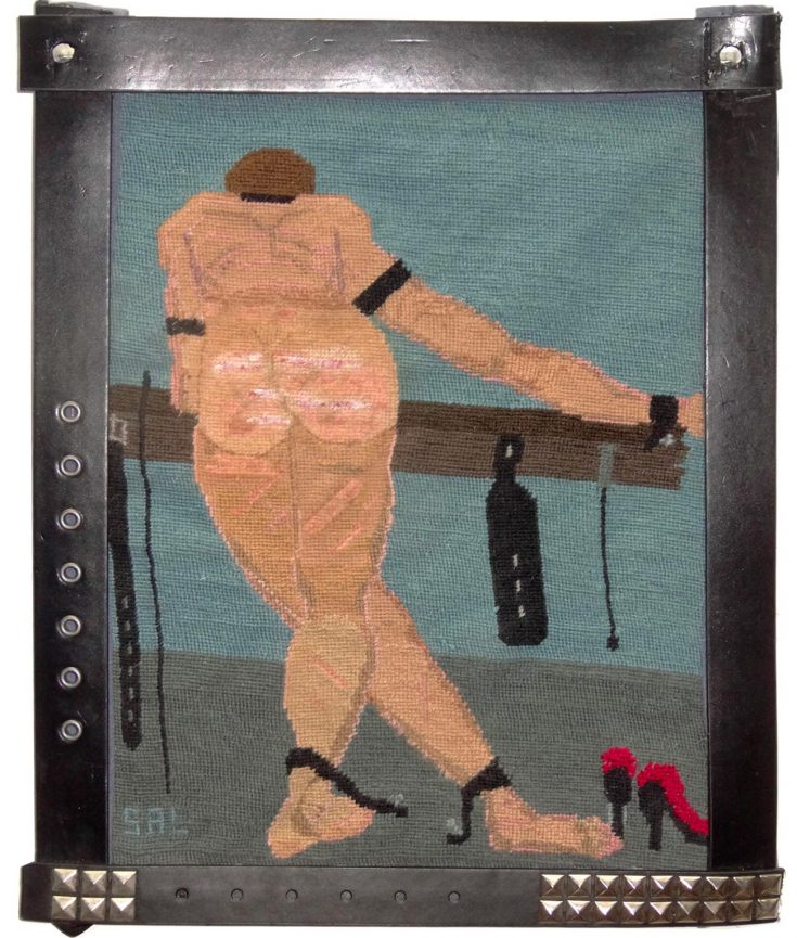 Photo of artwork with Man whipped