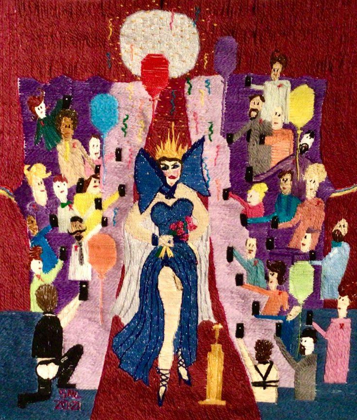 We Celebrate Drag Thread Painting